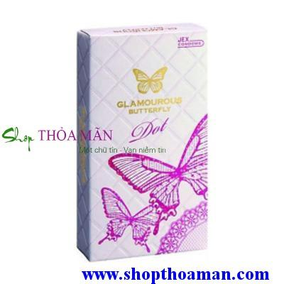 4 hộp bao cao su Glamcurous Butterfly Dot